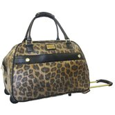 Metallic Leopard 21&quot; Rolling Duffle Bag