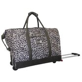 Gray Leopard 20'' 2 Wheeled Weekender Duffel