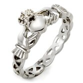 Stainless Steel Celtic Eternity Claddagh Ring