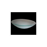 Oval Vessel Sink in Frosted