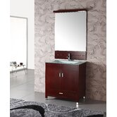"32"" Single Bathroom Vanity Set in Cherry"