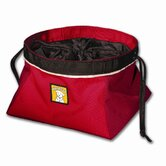 Quencher Cinch Top� Portable Outdoor Dog Food Bowl in Red Currant