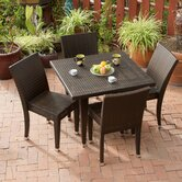 Dominica 5 Piece Outdoor Dining Set