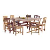 Eureka 9 Piece Hard Wood Dining Set