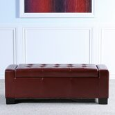 Guernsey Leather Storage Ottoman