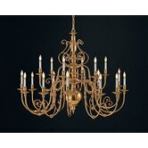 Hot Deal 12 Light Brass Chandelier