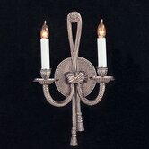 Baroque Candle Wall Sconce in Pewter