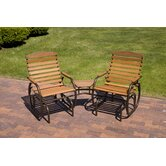 Country Garden Steel Glider Chair