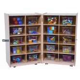 Twenty Tray Folding Vertical Storage Unit