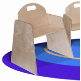 Woodie 13&quot; Plywood Classroom Stackable Tot Chair (Set of 2)