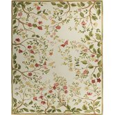 Classic Aubusson Summer Cream Flowers Rug