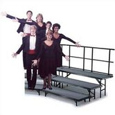 Three-Level Standing Choral Riser with Polypropylene Deck