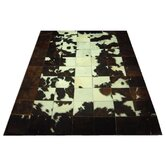 Dark Brown Trim Haired Cowhide Rug