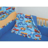 Boys Like Trucks 4 Piece Crib Bedding Set