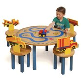 Boys Like Trucks Kids' 5 Piece Table and Chair Set