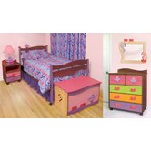 Girl Teaset Twin Slat Bedroom Collection