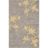Organic Modern Gray/Yellow Rug