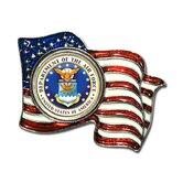 Armed Forces Colorized Quarter Flag Pin