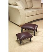 Faux Leather Foot Stool (Set of 2)