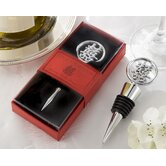 ''Double Happiness'' Elegant Bottle Stopper in Asian-Themed Gift Box