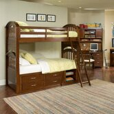 Newport Beach Twin over Twin Bunk Bed with Bookshelves and Storage