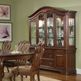 Heritage Court China Cabinet in Distressed Cocoa Brown