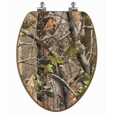 RealTree Camouflage Elongated AP Camouflage on Oak Toilet Seat