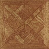 Nexus 12&quot; x 12&quot; Vinyl Tile in Oak Parquet