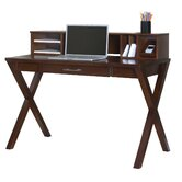 Worx Wood Veneer Office 8&quot; H x 47.5&quot; W Desk Hutch