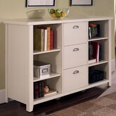 Tribeca Loft 41&quot; H White Three-Drawer File/Bookcase