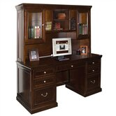 Fulton Computer Credenza with Hutch