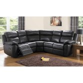 Kansas Bonded Leather Reclining Corner Sectional Sofa