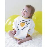 Organic Bib Set in Frying Egg and Baby Boy Blue