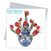 Flat Flowers Greetings in Delft Tulip