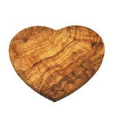 Olive Wood 22cm Heart Shaped Board