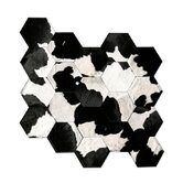 Patchwork Cowhide Japanese Rug