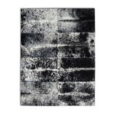 Patchwork Cowhide Oak Grey Freckles Rug