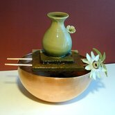 Flower Ceramic Vase Tabletop Fountain