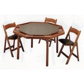 "57"" Maple Contemporary Folding Poker Table"