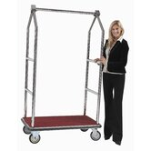 Tall Luggage Cart with Red Carpet