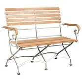 Bistro Teak and Iron Garden Bench