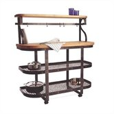 Baker's Sideboard Kitchen Cart with Wood Top