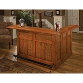 Large Oak Wrap Around Home Bar