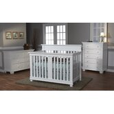 Torino Crib Set in White