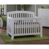 Gala Convertible Crib Set in White