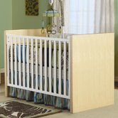 Milano Convertible Crib in Natural / White