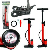 Hand Bicycle Pump with Built-in Pressure Ga