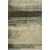 CK10 Luster Wash Light Green Scene Rug