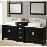 "Horizon 84"" Double Bathroom Vanity"