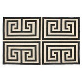 Greek Key Black Rug